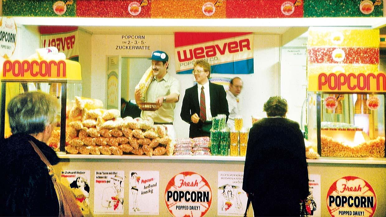 Der Amerika-Pavillon auf der Grünen Woche, Berlin, 1988