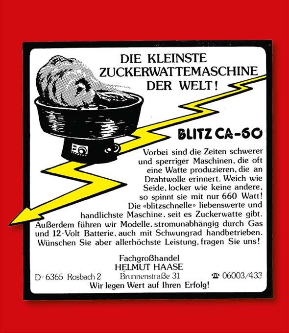Anzeige in Fachzeitschriften, 1977