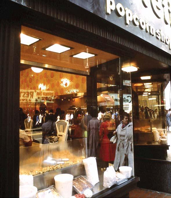 Garretts Popcorn Shops: Einer der ersten Gourmet-Popcorn-Geschäfte in Chicago in den frühen 80er Jahren – heute weltweit vertreten.