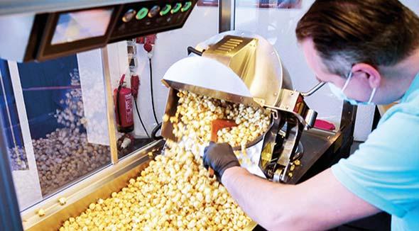 Popcorn-Herstellung mit Induktion