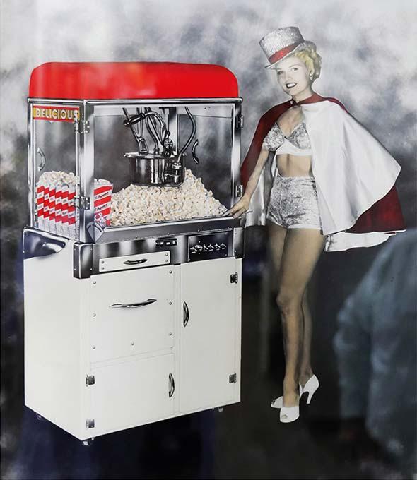 Die einzigartigen Popcorn-Maschinen von Charles Manley sind heute Kult