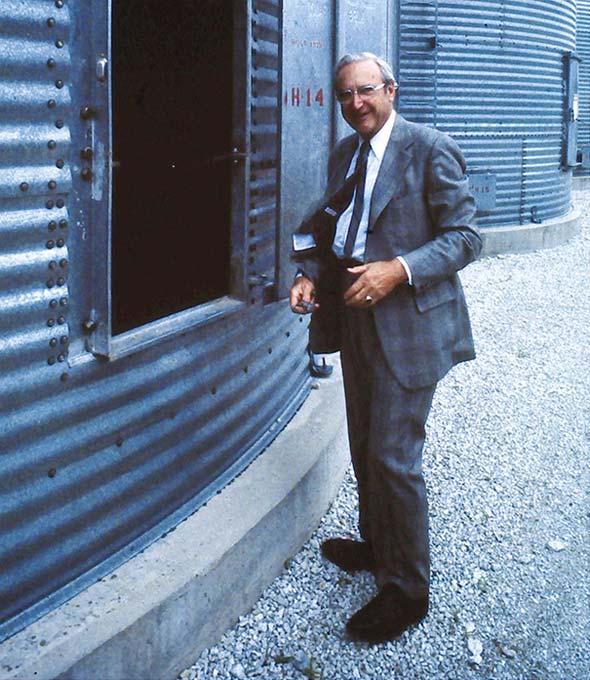 Welcome Weaver, CEO von Weaver Popcorn, Indiana, USA, 1986