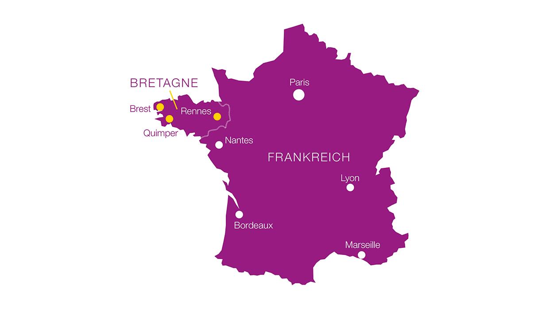 Crêpes-Herkunft in Frankreich