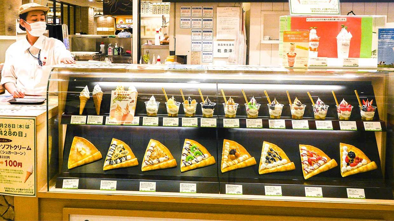 Überall in Tokio zu finden: Japanische Crêpes in vielen Variationen.