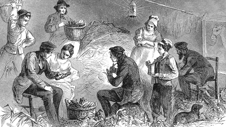 Maisernte in den USA. Radierung, 19. Jahrh. Foto: istockphoto