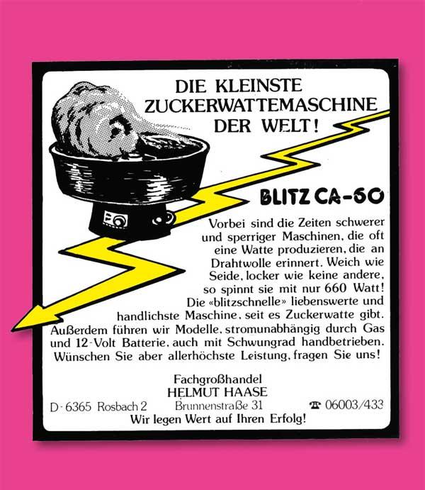 Anzeige in Fachzeitschriften, 1977.