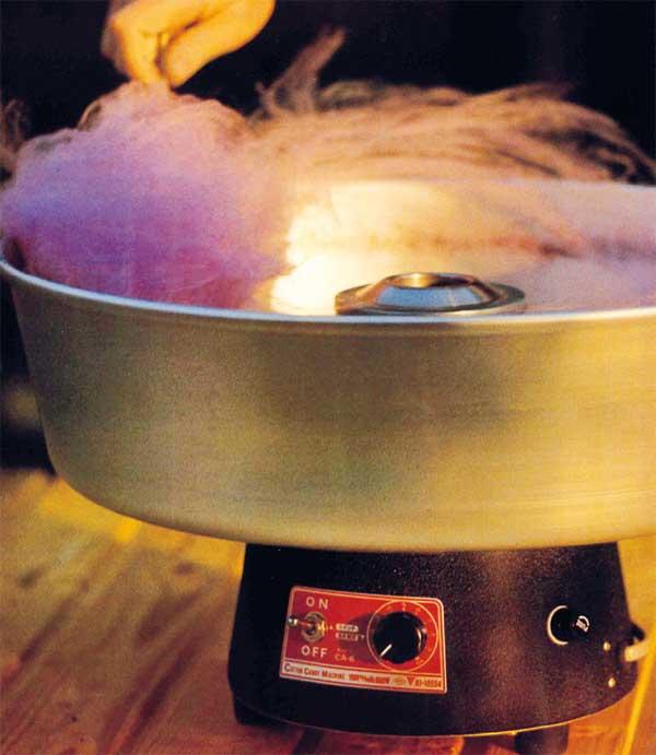 1977 die blitzschnellste, kleinste und handlichste Zuckerwatte-Maschine der Welt aus Japan