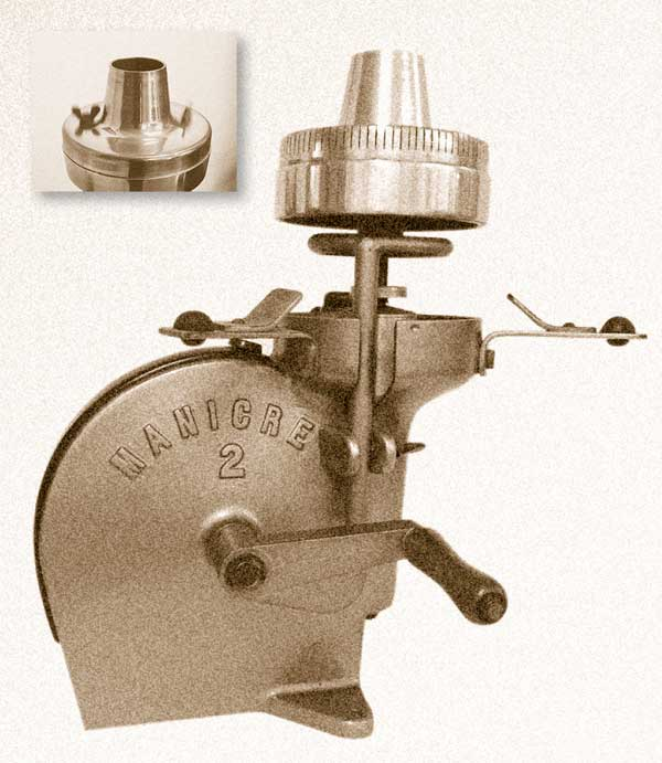 Mit Schwungrad und Handkurbel betriebene ZuckerwatteMaschine