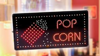 Popcorn-Werbemittel
