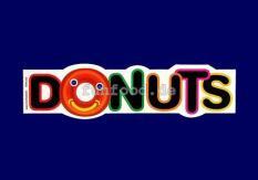 Aufkleber Motiv Donut