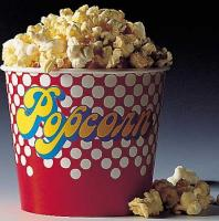Aufkleber Motiv Popcorn Bodenbecher