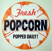 Poster Motiv Fresh Popcorn popped daily rund