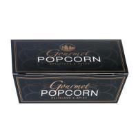 Faltschachtel Gourmet Popcorn schwarz 35 g