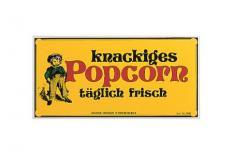 Nostalgieschild Popcorn 40 x 20 cm