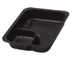 Nacho Kunststoffschalen schwarz 20 x 15,8 cm 500 Stück