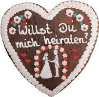 Lebkuchenherzen Hochzeitsherz 1.000 g 5 Stück