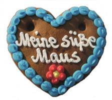 Lebkuchenherzen Mini Herz Spruch 40 g 60 Stück