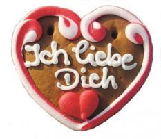 Lebkuchenherzen Mini Herz Ich liebe Dich 40 g 60 Stück
