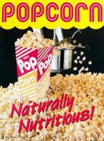 Poster Motiv Popcorn Naturally Nutritious