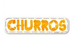 Aufkleber Motiv Churros 4-farbig