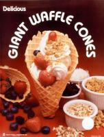 Poster Motiv USA Waffle Cones