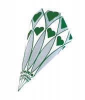Papierspitztüten Herzen grün 23 cm 1.000 Stück