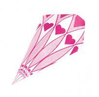 Papierspitztüten Herzen rosa 25 cm 1.000 Stück