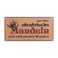 Nostalgieschild Mandeln 40 x 20 cm