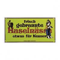 Nostalgieschild Haselnüsse 40 x 20 cm