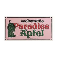 Nostalgieschild Paradiesäpfel 40 x 20 cm
