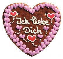 Lebkuchenherz Romantikherz 1.000 g 5 Stück