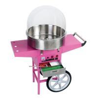 Zuckerwattemaschine rosa inkl. Wagen BOLLY TECH Wanne Ø 52 cm