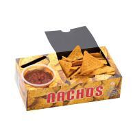 Nacho Box mit 1 Dip - FSC - Pappkarton/Kraftpapier