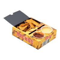 Nacho Box mit 2 Dips - FSC - Pappkarton/Kraftpapier