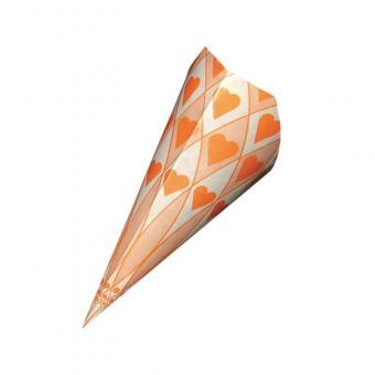 Papierspitztüten Herzen orange 21 cm 1.000 Stück