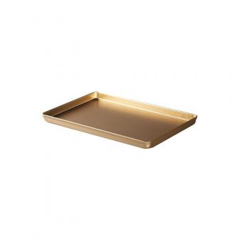 Ausstellblech 40 x 25 cm Alu gold eloxiert