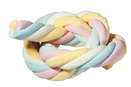 Meterspeck / Marshmallow 4-farbig getwistet 35 Stück
