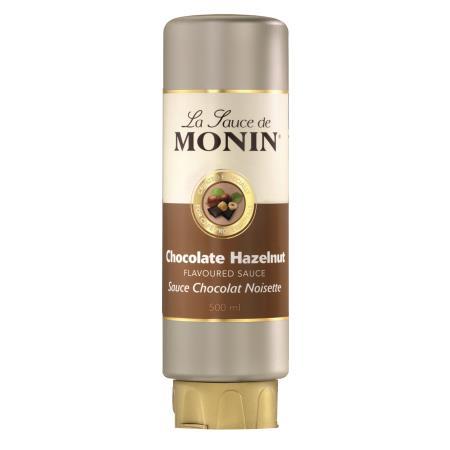MONIN Sauce Schokolade-Haselnuss 0,5 Liter Flexi-Flasche