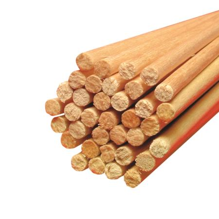 Holz Rundstäbe für Zuckerwatte Ø 4 mm Länge 400 mm 3.400 Stück