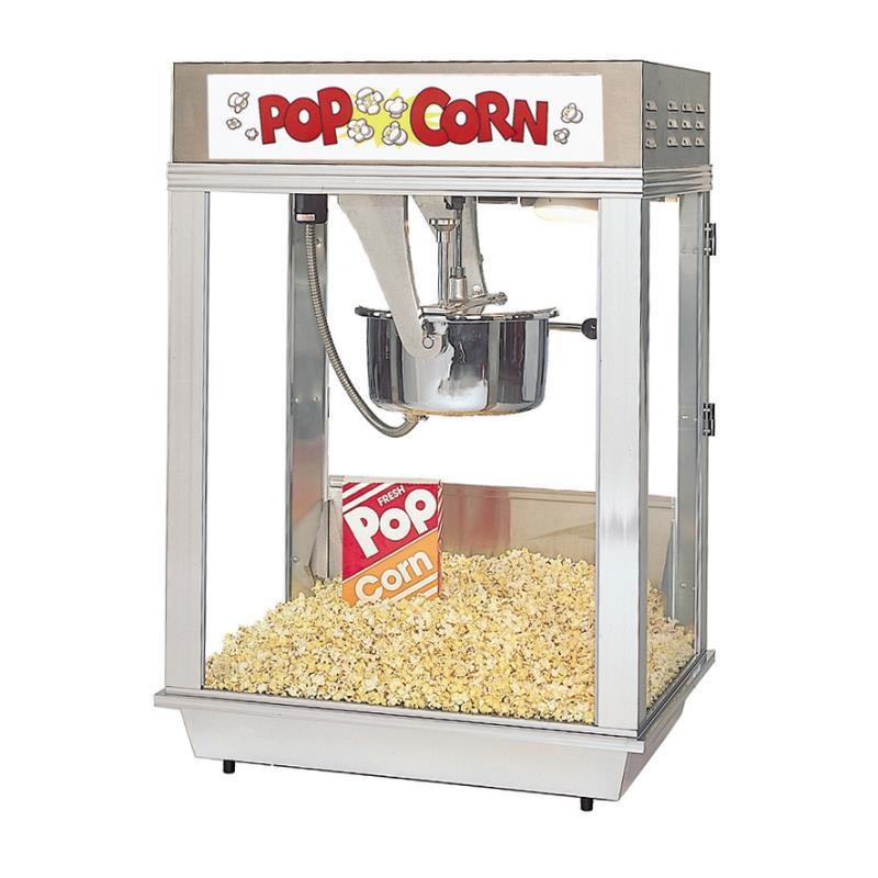 Popcornmaschine Deluxe Citation 16 oz Edelstahl mit Ölpumpenanschluß