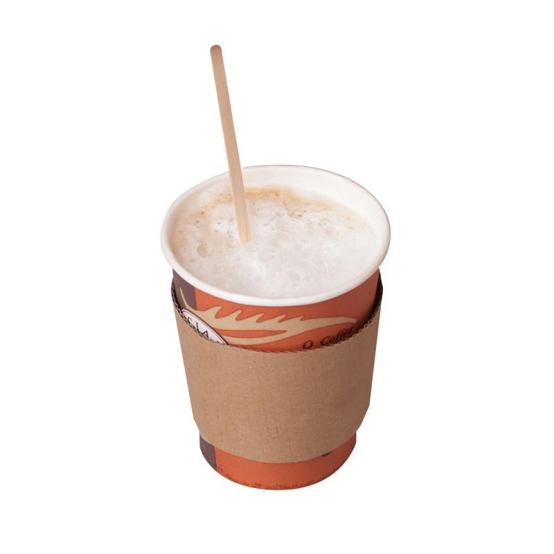 Coffeemanschette braun für 12/16 oz bzw. 0,3/0,4 Liter Becher