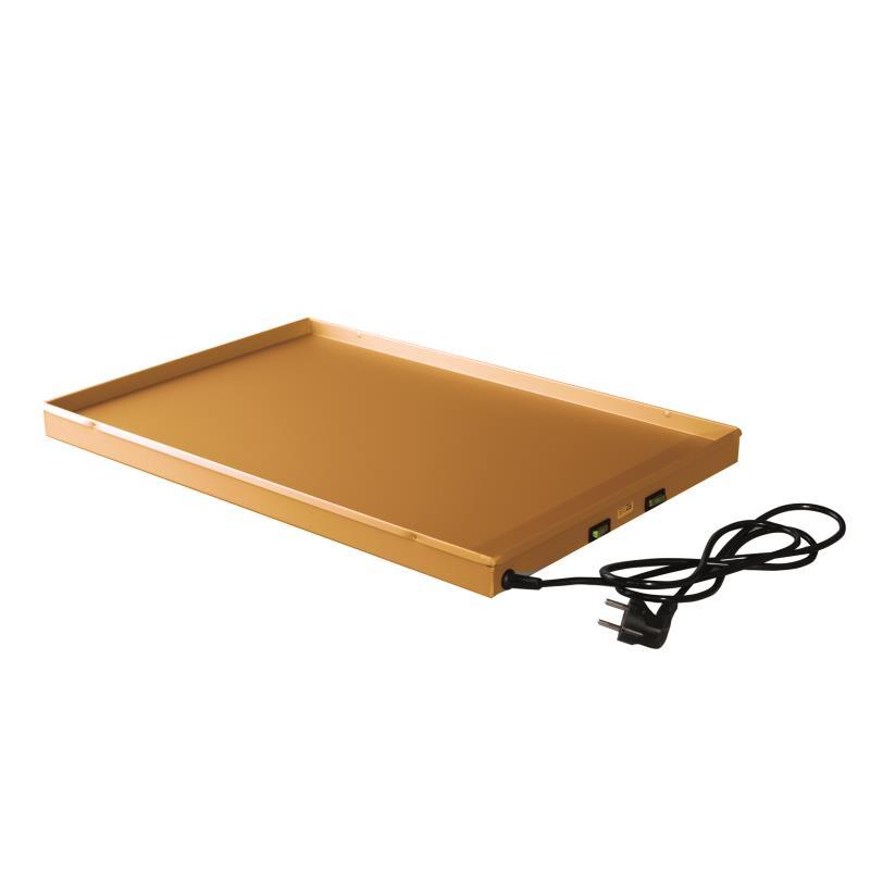 Heizblech 60 x 40 x 2 cm gold eloxiert