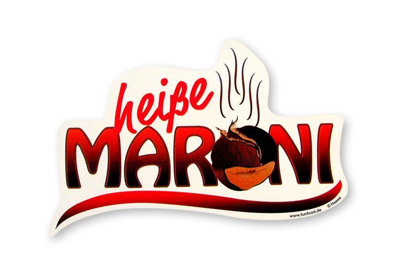Aufkleber Heiße Maroni