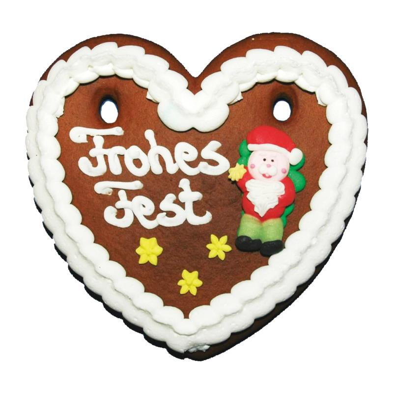Weihnachtsherz mit Zuckerfiguren 85 g