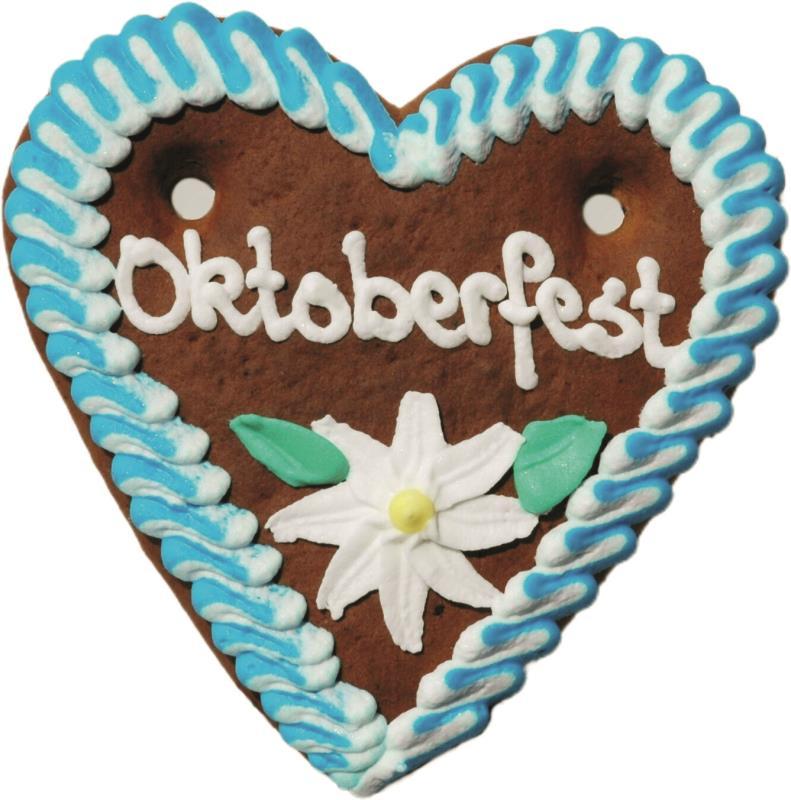 Lebkuchenherzen Oktoberfest-Herz 60 g 70 Stück