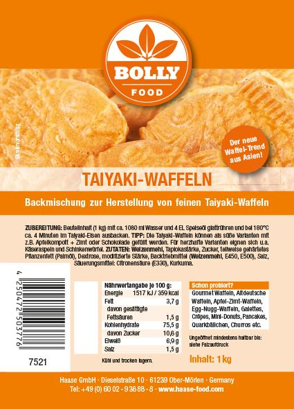 Backmischung Taiyaki Waffeln 1 kg Beutel