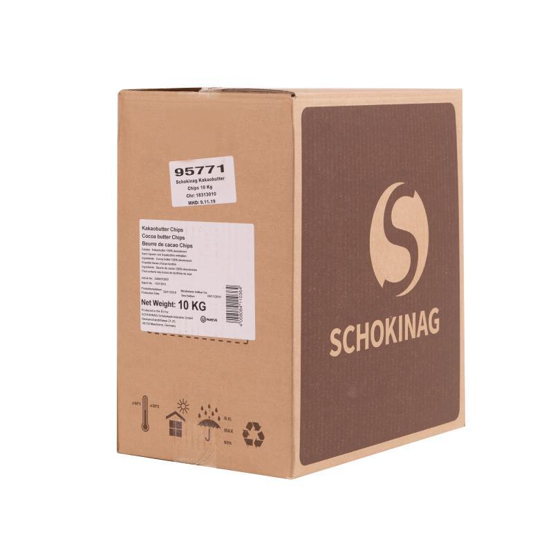 Kakaobutter Chips von Schokinag (10 kg)