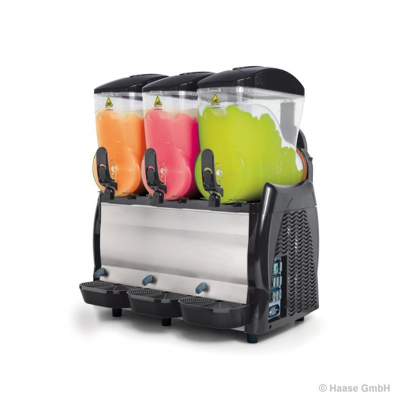 SlushDispenser Spin 12-3 TS-E Black 3 x 12 Liter