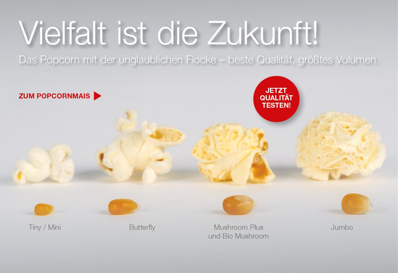 Popcorn Vielfalt